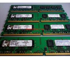 4 GB RAM DDR 2 800 / 4 ГБ РАМ ДДР 2 800 Kingston / 4 x 1 GB DDR 2