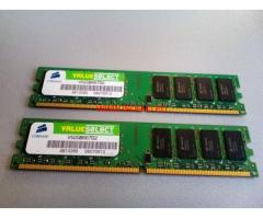 РАМ за настолен компютър - 4GB RAM DDR 2 667 MHz Corsair 2x2GB KIT